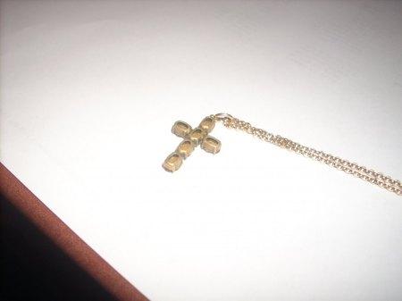 """""""Kreuz mit sechs orangefarbenen Steinen"""""""