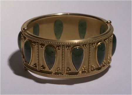 Goldarmband mit Jade - Verkaufswert