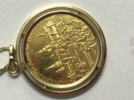 Anhänger mit Münze 585