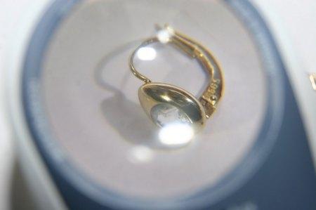Ohrring in 585 Gelbgold mit unbekanntem Stein