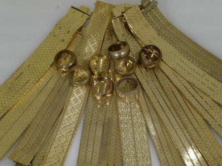Schweres Goldarmband