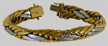Suche Herren Weißgold Armband (Panzerarmband, Armkette) zweite Hand