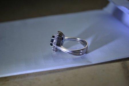 Diamantring Weissgold 750