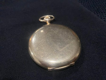 """Taschenuhr """"Uhrenfabrik Union Glashütte in Sachsen"""" 585 Gold nicht personifiziert"""