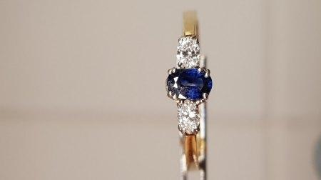 Goldring mit Saphir und Diamanten - ohne Punze echt?