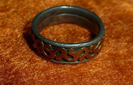 Ring Antik Silber Gold merkwürdige Punzen