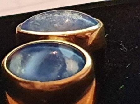 Opal Ring 3,20 ct. (gelbgold 585) Opalring mit 2 großen Steinen