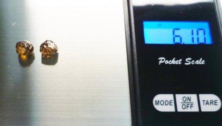 (Verkaufe) 2 Rohdiamanten fancy light brown gesamt 6.05ct