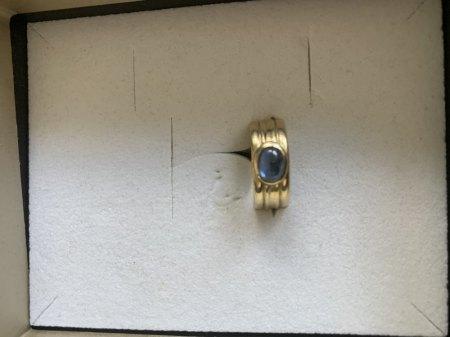 Ring 585 Gold blauer Stein