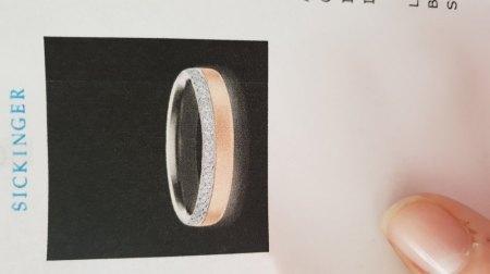 Änderung Ringgröße mit Diamanten im Verschnitt