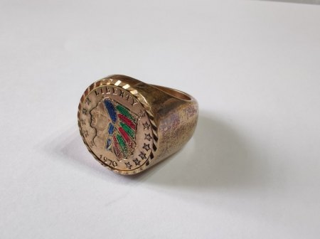 Gold Ring Indian head ?