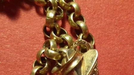 Antiker Biedermeier Kreuz Anhänger und Gold Kette