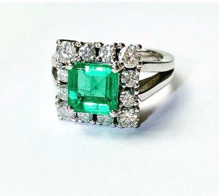 Kolumbianischer smaragd? Ring 750