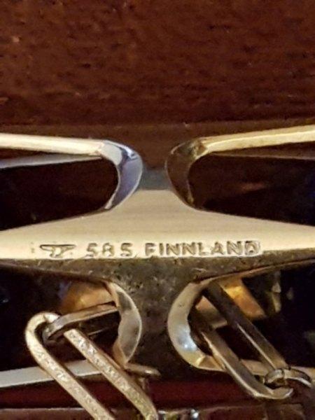 Gold Anhänger 585er mit Punze und Bezeichnung Finnland?