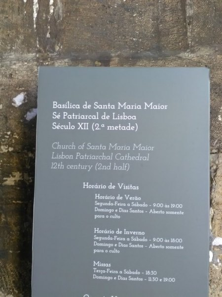 Die Strahlenmonstranz der Sé de Lisboa