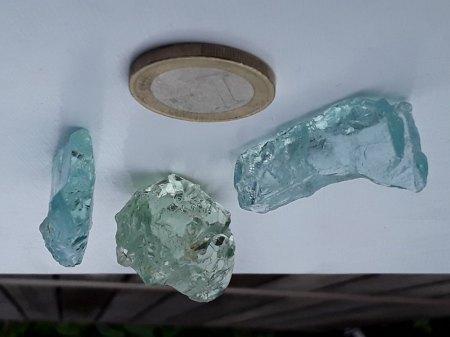 Vanadium Berylle aus Mozambik abzugeben