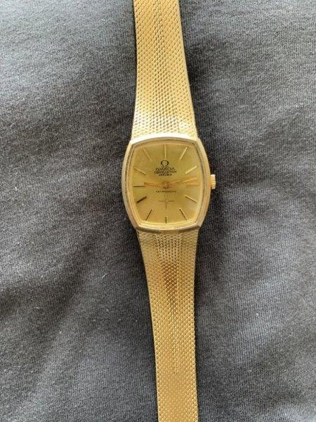 Goldene Omega Vintage 750 18k Gold echt?