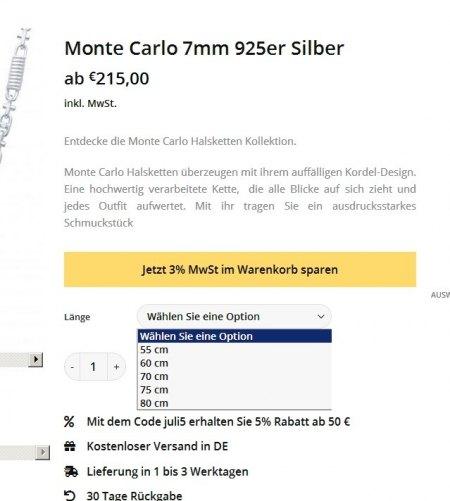 Monte-Carlo Kette kaufen/anfertigen lassen