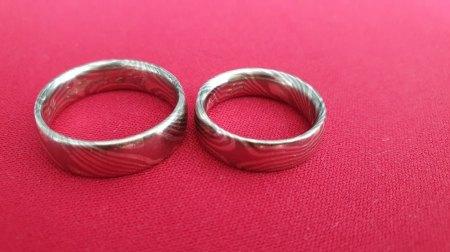 Biete 2 Ringe Mokume Gane Silber/Palladium