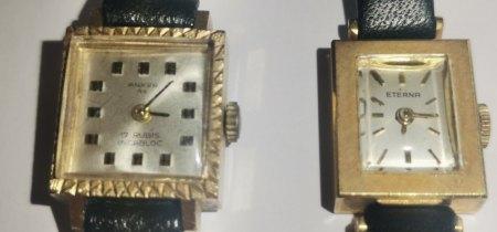 Zwei kleine alte Damenuhren, Anker und Eterna