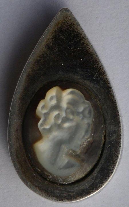 Silberanhänger mit Kamee