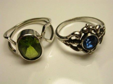 Tennisarmband Silber mit grünen Steinchen