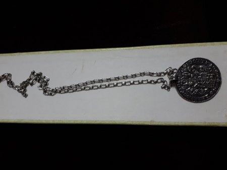 Eine Medaille 925 Silber Bas