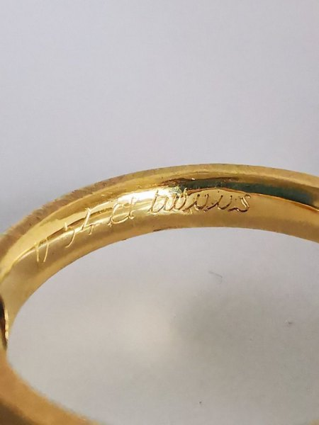 750 I- Ring mit 0,54ct Brillant