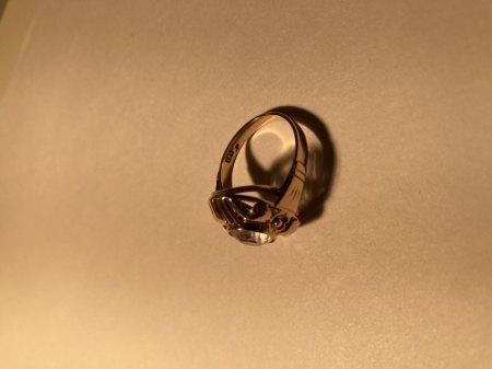 Ring Seite mit Stempel