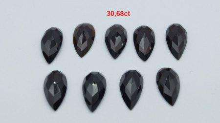 Verkaufe Granat: Facettiert und im Rosenschliff