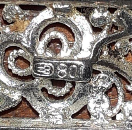 Unbekannte Punze Silberbrosche