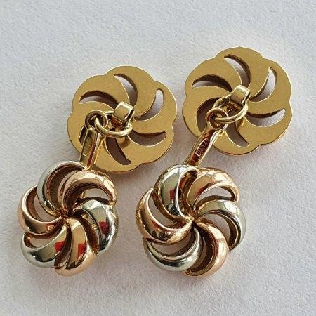 Manschettenknöpfe Gold tricolor