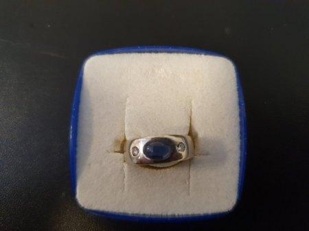 Damenring Gold 2 Diamant (0.12 CT) Saphir (No. 13)