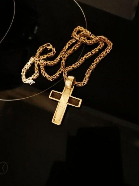 Kreuz mit Einlage  vermutlich Schildplatt