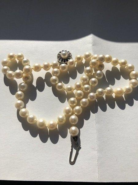Perlenkette aus Nachlass