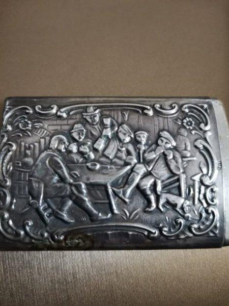 Streichholzschachtel aus echtem Silber