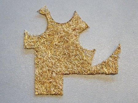 Fasermatte 750er Gelbgold zu verkaufen