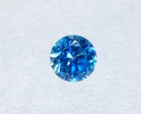 Echter blauer Zirkon - rund - aus Goldschmiede zu verkaufen