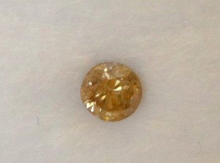 Cognacfarbiger Brillant - 0,265 Carat - aus Goldschmiede zu verkaufen