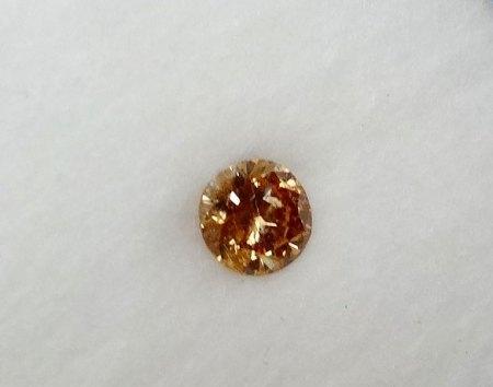 Cognacfarbiger Brillant - 0,23 Carat - aus Goldschmiede zu verkaufen