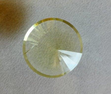 Großer Spiegelschliff-Citrin aus Goldschmiede zu verkaufen