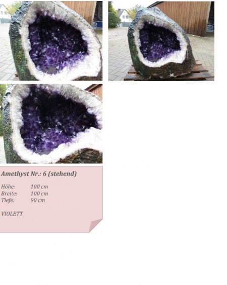 Amethyst Edelstein Sammlungauflösung Verkauf selten 510kg/295kg/195kg