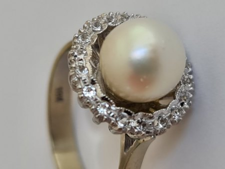 Perle - Diamant ? Ring ?