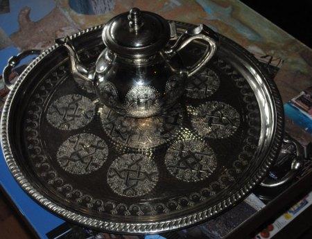 arabische Punze auf Teeservice