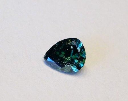Diamanttropfen - fancy blau - aus Goldschmiede zu verkaufen