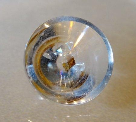 Origineller Berkristall mit Einschluß - aus Goldschmiede zu verkaufen