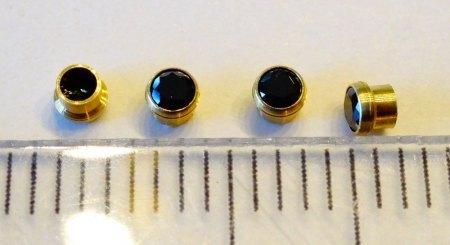 4 Presetting-Zirkonias - schwarz - aus Goldschmiede zu verkaufen