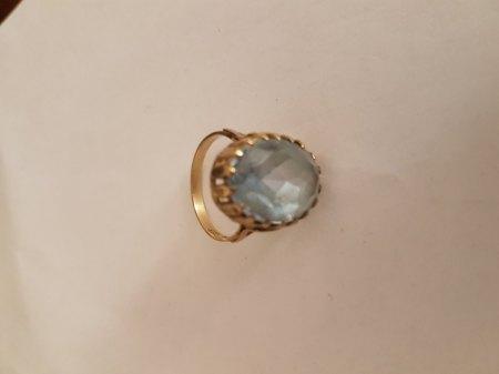 Ring Gelbgold mit blauem Stein - Wertschätzung