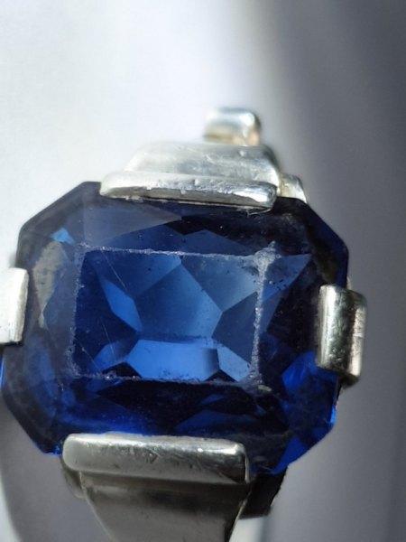 Welche blauen Steine in 800er Silber - um 1900?