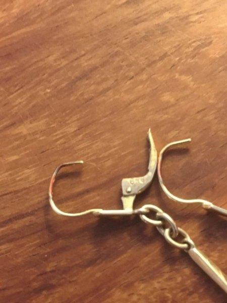 Paar Ohrhänger mit Perlen Punze GR0 oder GRO